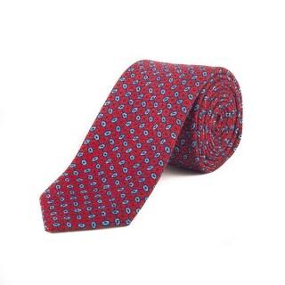 Ermenegildo Zegna Men's Slim Silk Patteren Tie Red - no size