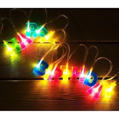 """HAPPY BIRTHDAY"" Letter Shaped LED, 5.1ft String Lights"
