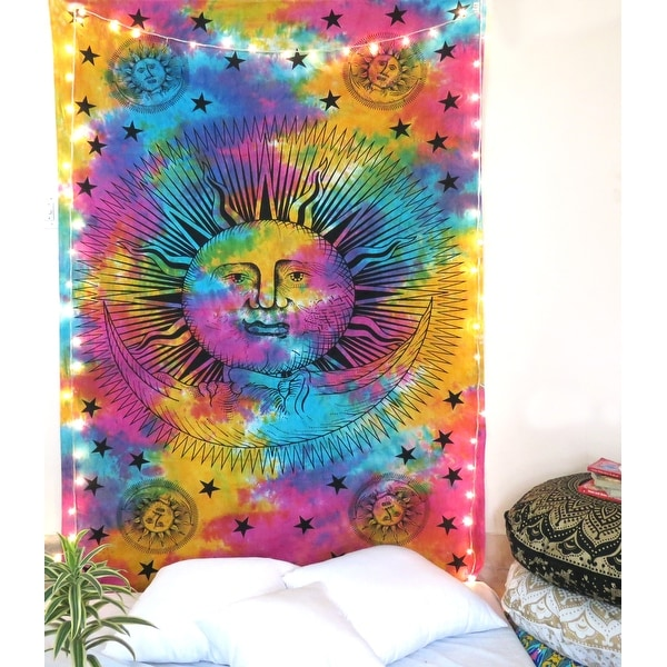 """Oussum Home Decor Multi Color Elephant Art Hanging Tapestry Wall Decoration Tapestries For Bedroom ( 80"""" x 56"""" Inches)"""