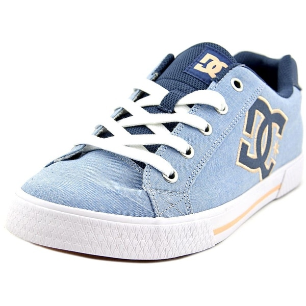 DC Shoes Chelsea TX SE Women Round Toe Canvas Blue Skate Shoe