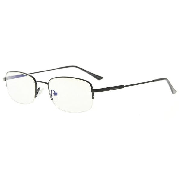 8737fa43ca Eyekepper Blue Light Blocking Eyeglasses Bendable Titanium Memory Half-Rim  Computer Glasses