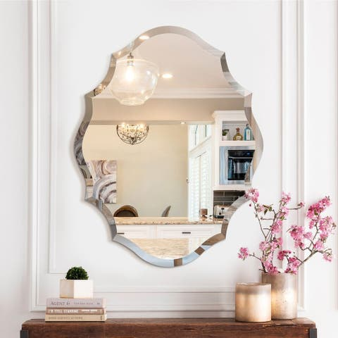 Mirror Trend Beveled Accent Frameless Wall Mirror - 22*28