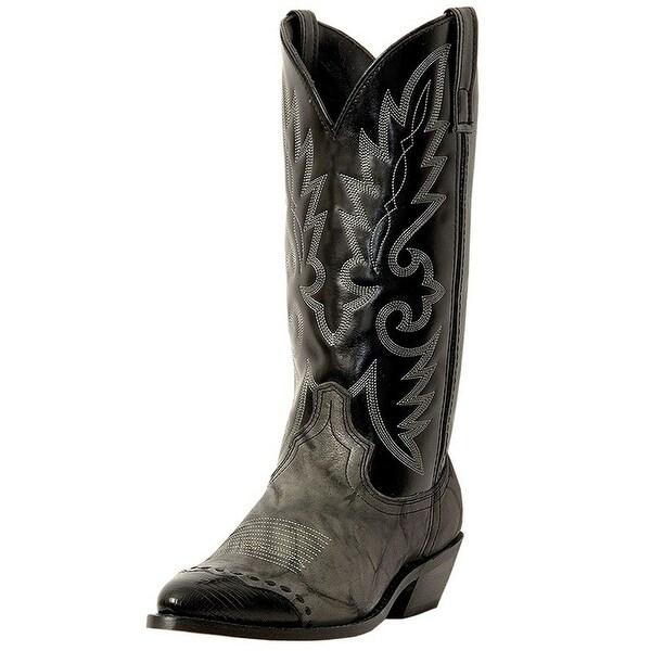 Laredo Western Boots Mens Flagstaff Wingtip Gray Marble Black