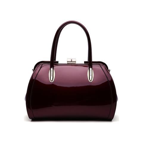 MKF Collection Marlene Patent Satchel Handbag by Mia K.