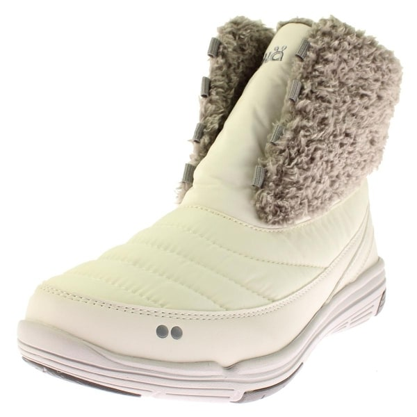 Ryka Womens Addison Snow Boots Mixed Media Faux Fur