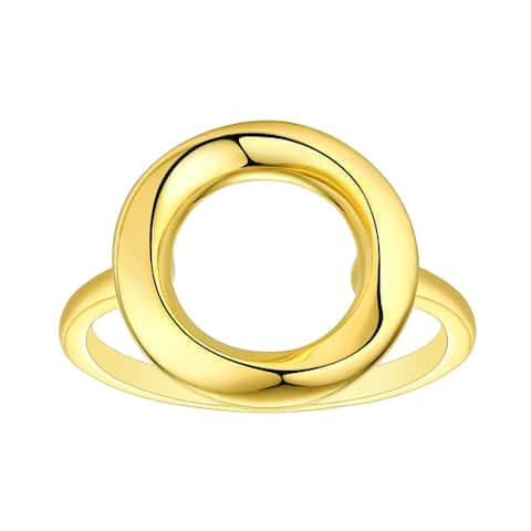 Vedantti 18k Gold Open-Circle Solid Everyday Wear Ring