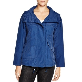 Eileen Fisher Womens Jacket Adjustable Hooded