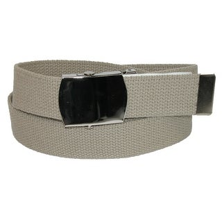 CTM® Big & Tall Cotton Belt with Nickel Finish Buckle (Pack of 3) - One size