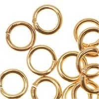 22K Gold Plated Open Jump Rings 5mm 19 Gauge (50)