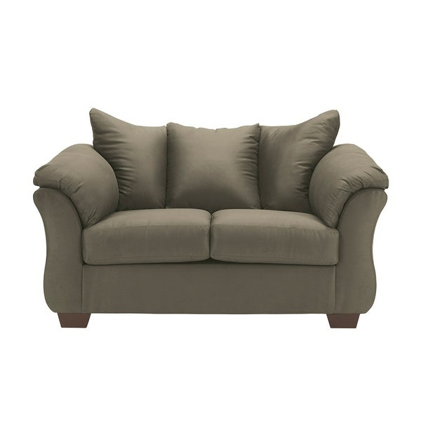 Marvelous Offex Signature Design By Ashley Darcy Loveseat In Sage Fabric Of Fsd 1109Ls Sag Gg Ibusinesslaw Wood Chair Design Ideas Ibusinesslaworg
