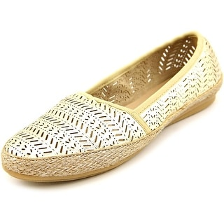 Easy Spirit Gannet Women N/S Round Toe Canvas Gold Espadrille