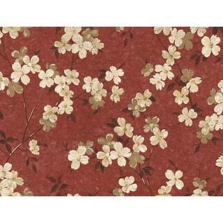 York Wallcoverings WW4445 Red Book Dogwood Wallpaper