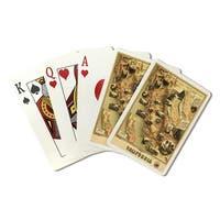 California - (1888) - Panoramic Map (Poker Playing Cards Deck)
