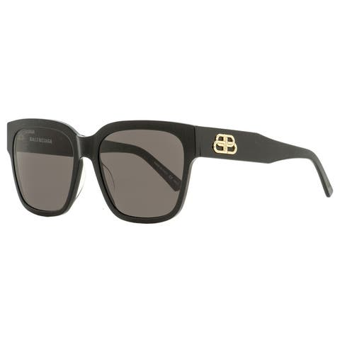 Balenciaga BB0056S 001 Womens Black/Gold 55 mm Sunglasses