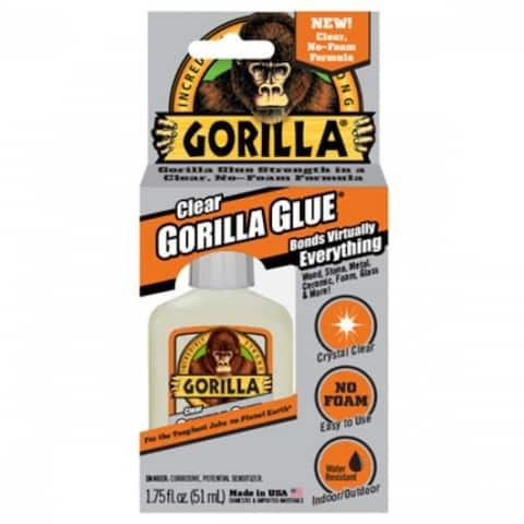 Gorilla Glue 4500102 Non-Foaming Formula Adhesive, Crystal Clear, 1.75 Oz