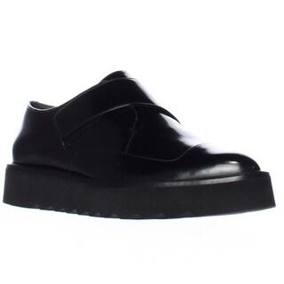 VINCE Arden Sleek Laceless Oxfords, Black