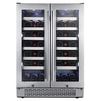 Avallon AWC241FD Built-In 24 Inch Wide 42 Bottle Capacity French Door Wine Cooler with Door Locks