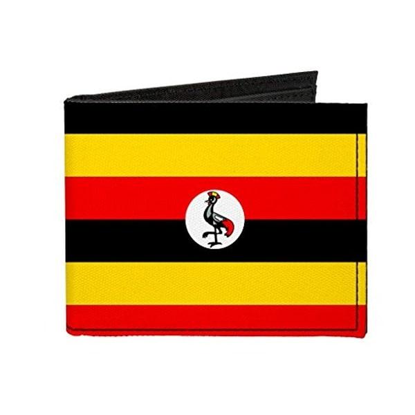 Buckle-Down Canvas Bi-fold Wallet - Uganda Flag Accessory