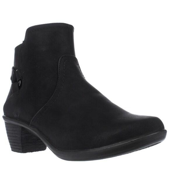 Easy Street Dawnta Side Zip Ankle Boots, Black Matte