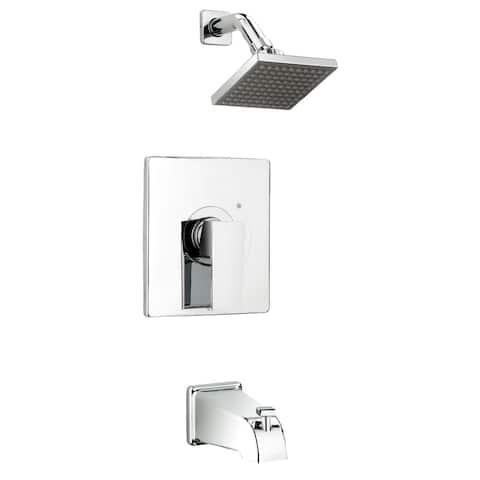 Belanger QUA90CCP Single Handle Tub and Shower Faucet, Polished Chrome