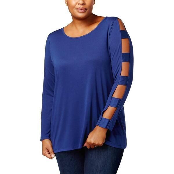 Love Scarlett Womens Studded V-Neck Dressy Sweater Top Plus BHFO 2291