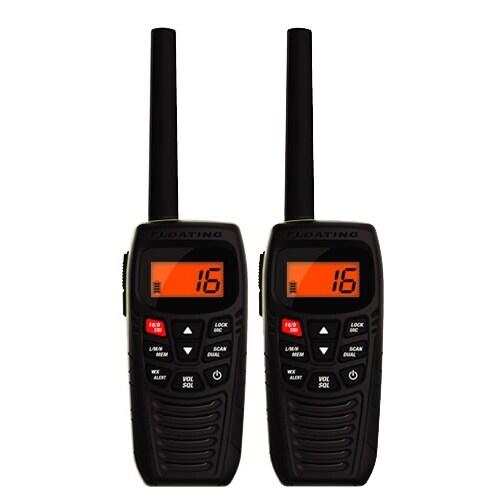Uniden Atlantis 270 - 2 Pack VHF Marine Radio with Backlit LCD Display