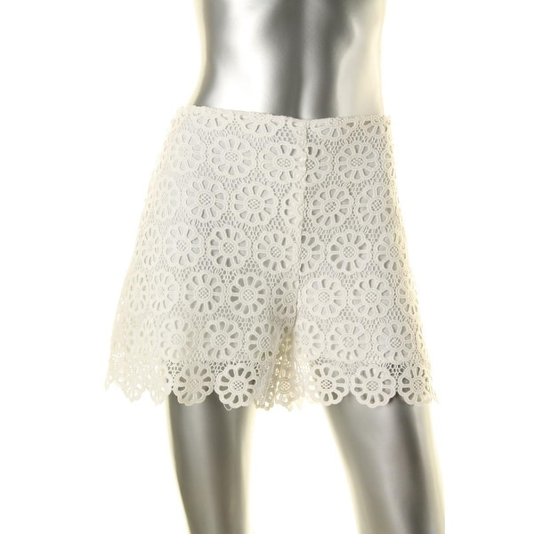 Lucy Paris Womens Casual Shorts Lace Flat Front