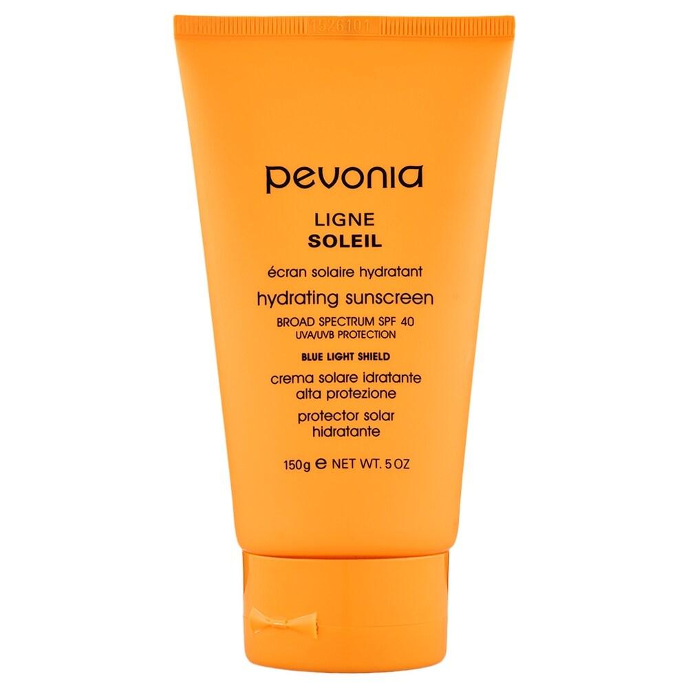 Pevonia Hydrating Sunscreen SPF 40 UVA/UVB Protection + Blue Light Shield 5 oz - 5 oz (Orange - Facial Sunscreen)