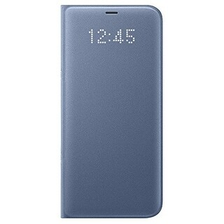 Samsung LED Wallet Cover for Samsung Galaxy S8 Plus - Blue LED Wallet Cover for Samsung Galaxy S8 Plus