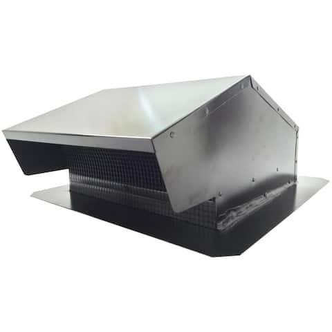 Builder's best 012634 black metal roof vent cap (6-8 (3 1/4 x 10) universal flush)