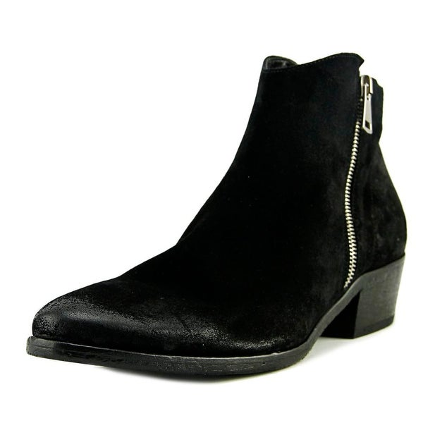 VC Signature Roxanna Women Round Toe Suede Black Ankle Boot