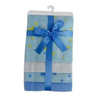 Bambini Blue Four Pack Receiving Blanket - Size - 30x40 - Boy