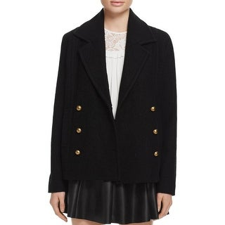 Joie Womens Coat Wool Double-Breasted