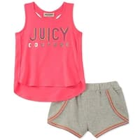 Juicy Couture Girls 2T-4T Tank Short Set - Pink
