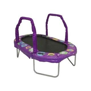 38 x 66 in. Jumpking Mini Oval Trampolines with Purple Pad
