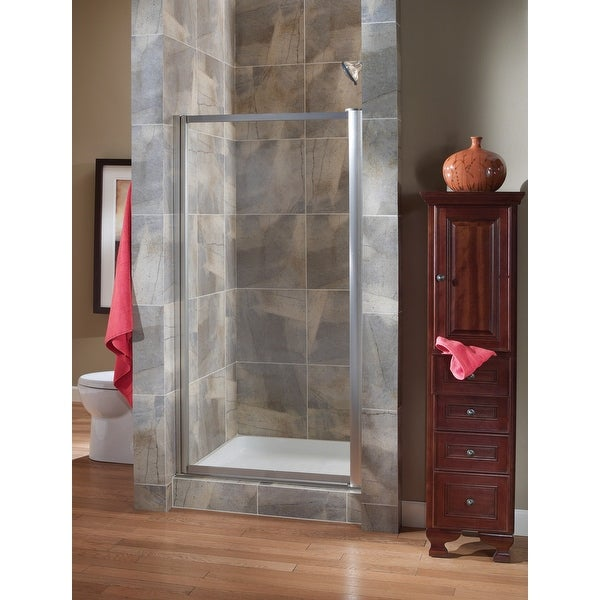 Foremost Tdsw2565 Cl Tides 65 High X 25 Wide Hinged Framed Shower Door With 3 16 Clear Gl Free Shipping Today 20618035