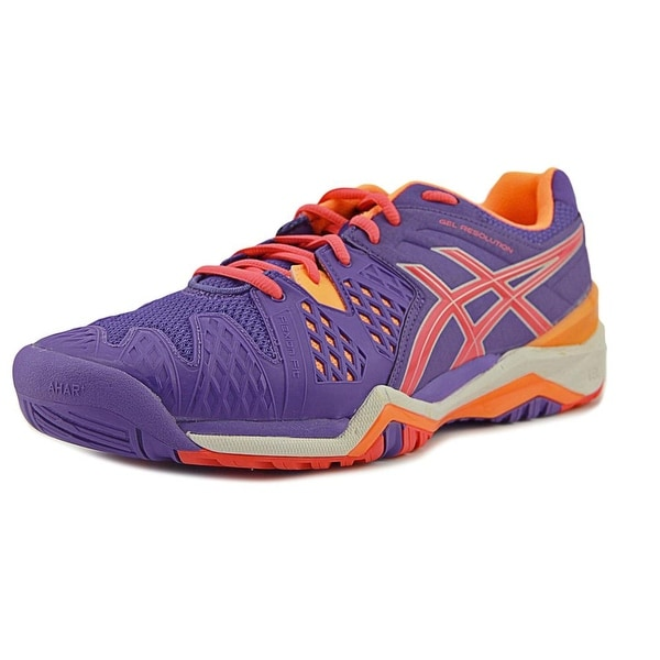 Asics Gel-Resolution 6 Women Round Toe Synthetic Purple Tennis Shoe