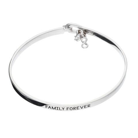 """Sterling Silver """" Family Forever """" Bangle"""