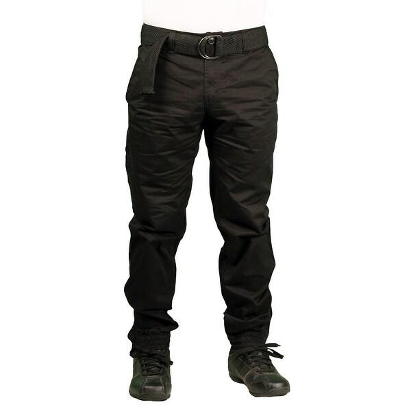 PJ Mark Men's Twill Zip-Ankle Jogger Pant