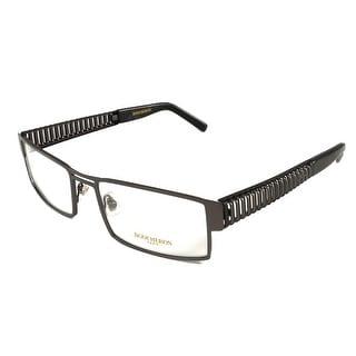 Boucheron Unisex Rectangular Eyeglasses Silver/Black - Black - S