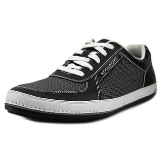 Rockport Harbor Point Low Men Round Toe Canvas Black Sneakers