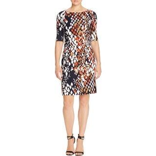 BOSS Hugo Boss Womens Dinomi2 Wear to Work Dress Printed Sheath