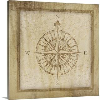 """""""Compass"""" Canvas Wall Art"""