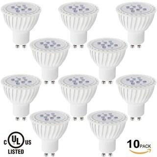 6 PACK MR16 GU10 LED Light Bulb, 7W (60W Equivalent), 2700K Soft White/5000K Daylight 36° Beam Angle, 500Lm, UL-listed