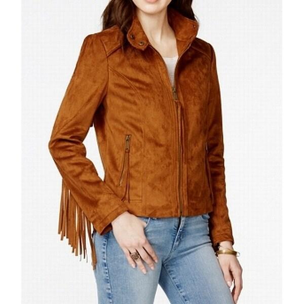 Rachel Rachel Roy Women's Faux-Suede Fringe Jacket
