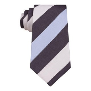 Kenneth Cole Reaction Mens Modern Rugby Neck Tie Striped Slim - o/s