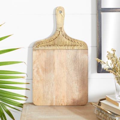 Brown Wood Natural Decorative Cutting Board 1 x 18 x 10 - 18 x 10 x 1