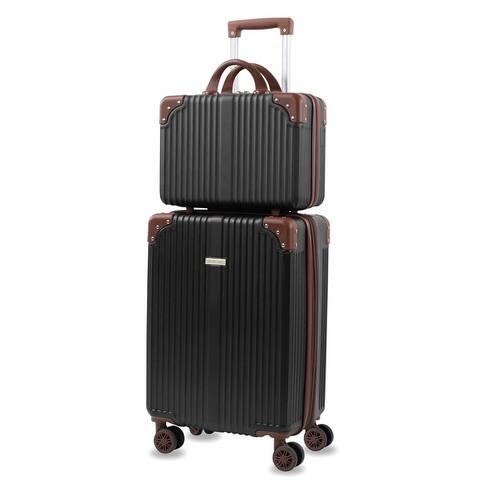 Tresor 2-Piece Carry On Vanity Trunk Luggage Set