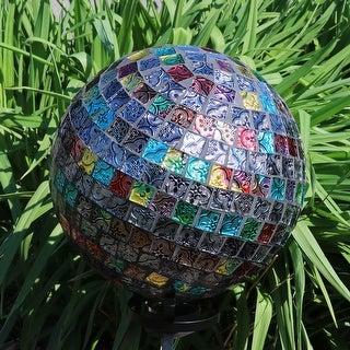 Sunnydaze Multi-Colored Tiled Mosaic Outdoor Gazing Globe - 10-Inch - Set of 2 - Set of 2