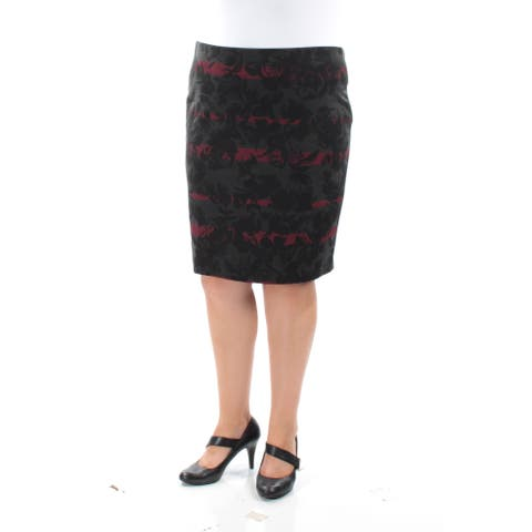 GRACE ELEMENTS Womens Black Floral Above The Knee A-Line Wear To Work Skirt Size: XS